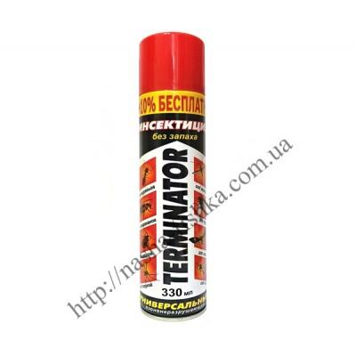 Дихлофос (инсектицид) Terminator 330 мл без запаха (красный)
