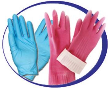 Перчатки латексные (резиновые)