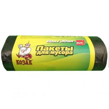 Пакеты для мусора Козак 60л/20 шт