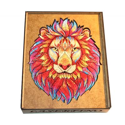 Пазлы деревянные фигурные Король Лев формат А4 (30 х 21 см)