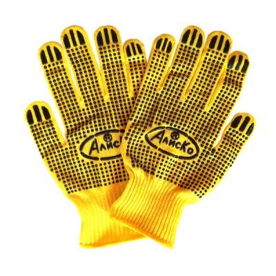 Перчатки рабочие синтетика Алиско желтые купить оптом