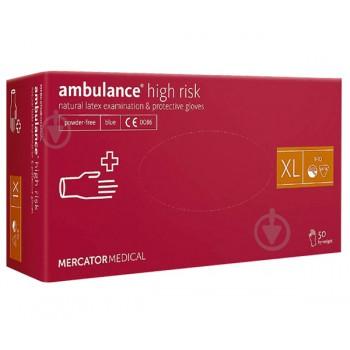 Перчатки латексные Ambulance, размер XL (9-10)