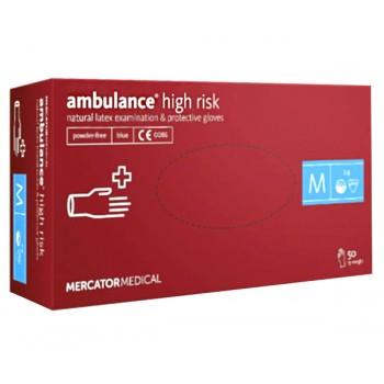 Перчатки латексные Ambulance, размер M (7-8)