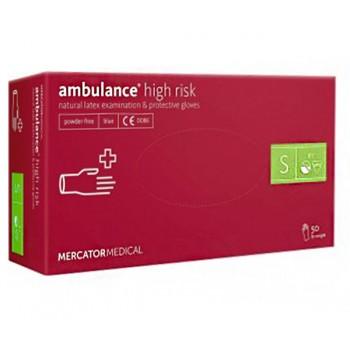 Перчатки латексные Ambulance, размер S (6-7)