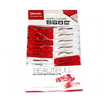 Прищепки бельевые Beautiful (бело-красные)