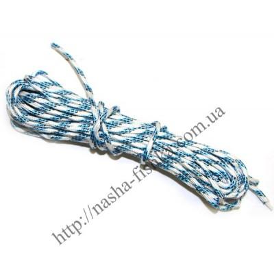 Веревка бельевая плетеная 15 м (5мм) светлая