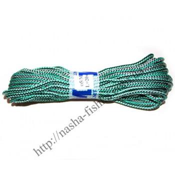 Веревка бельевая 20 м (5 мм) вязаная цветная