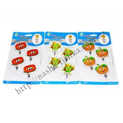 Крючки кухонные (4 шт.) пластиковые настенные