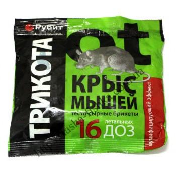 Трикота тесто-сырные брикеты от крыс и мышей (200 гр.)