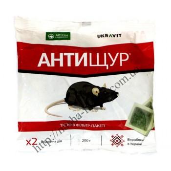 Антищур - тесто в фильтр-пакете против крыс и мышей (200 гр.)