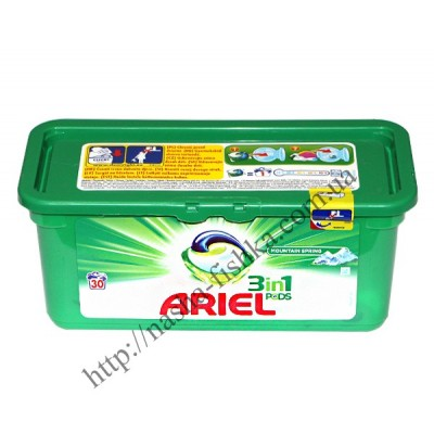 Капсулы для стирки Ariel 3 in 1 mountain spring (30 шт.)