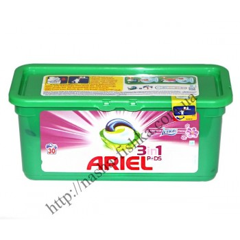 Капсулы для стирки Ariel 3 in 1  touch of  Lenor fresh (30 шт.)