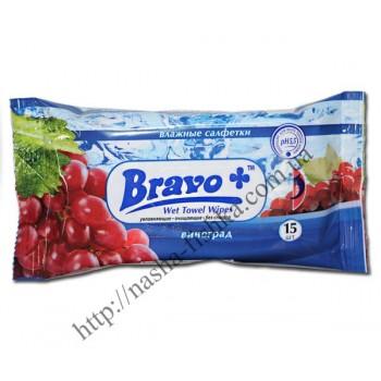 Салфетки влажные BRAVO+ виноград