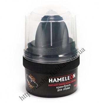 Крем-блеск водоотталкивающий для обуви Hameleon коричневый