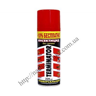Дихлофос (инсектицид) Terminator 220 мл без запаха (красный)