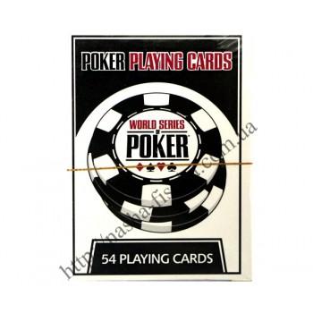 Карты пластиковые для покера №1 (в колоде 54 шт.)