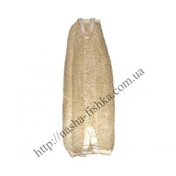 Мочалка для тела натуральная люфа Банан (35 см)