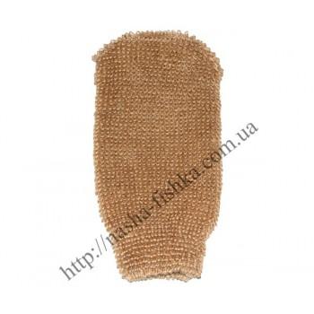 Мочалка рукавичка для тела банная № 55 (лен)