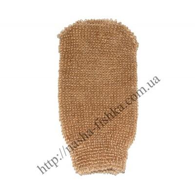 Мочалка рукавичка для тела банная № 55 (лен) купить оптом
