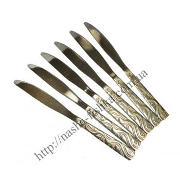 Ножи столовые из нержавеющей стали, узор Мозаика