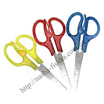 Ножницы канцелярские школьные с линейкой 13 см