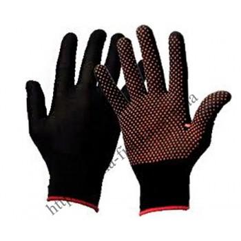 Перчатки cинтетика (черные, синие)