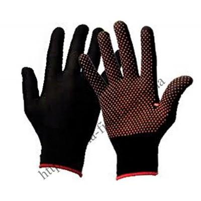 Перчатки х/б cинтетика Польша синие и черные