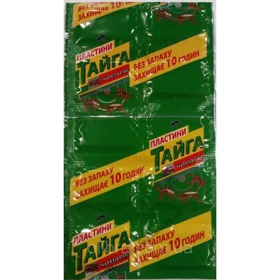 Пластины от комаров без запаха Тайга