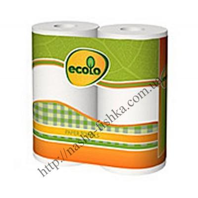 Бумажные полотенца ECOLO 2-х слойные (1уп/2шт.)