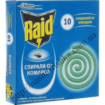 Спирали от комаров Raid (универсальная защита до 80 часов)