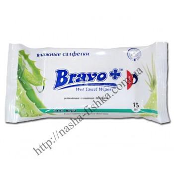 Салфетки влажные  BRAVO+ алоэ