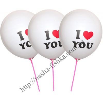 Воздушные шарики I love you
