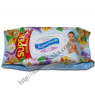 Салфетки влажные Superfresh 120 шт. детские супер упаковка