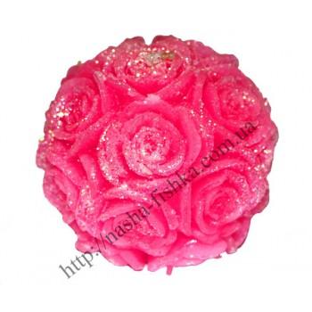 Свеча декоративная Роза круглая 6,5 см