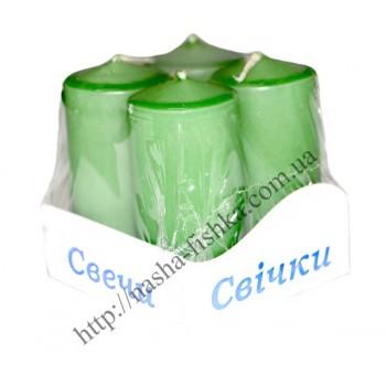 Свечи декоративные Столбик 4 шт. (40 х 80 мм)