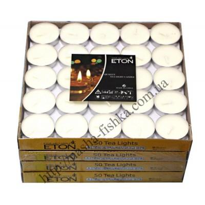 Свечи чайные таблетка белые 50 шт.