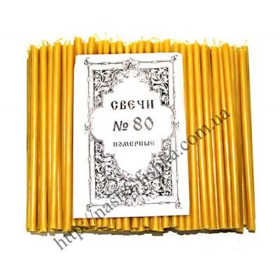 Церковные парафиновые свечи №80 (400 шт.)