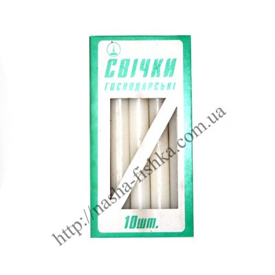 Свечи хозяйственные 185 х 20 мм 10 шт.