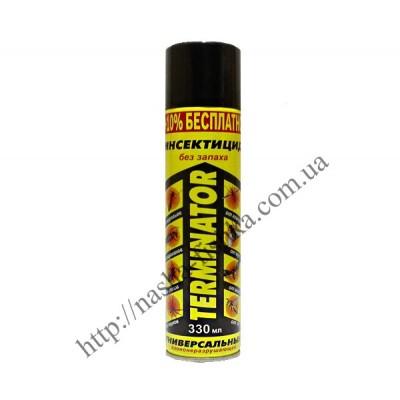 Дихлофос (инсектицид) Terminator 330 мл без запаха (желтый)