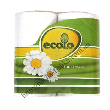 Туалетная бумага Ecolo 65м двухслойная (4 шт/уп.)