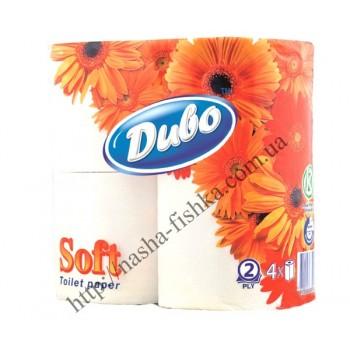 Туалетная бумага Диво SOFT 4 рул/уп. белая