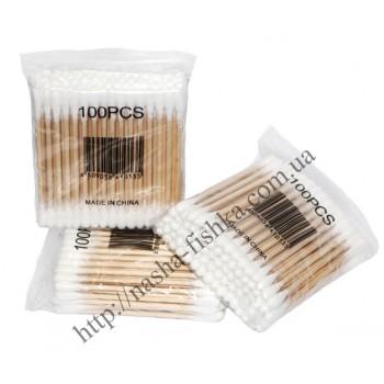 Ушные палочки на деревянной основе № 100