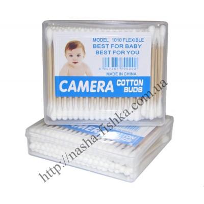 Ушные палочки в пластиковой коробке Camera (100 шт.)