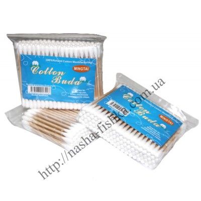 Ушные палочки на деревянной основе № 100 (100 шт.)