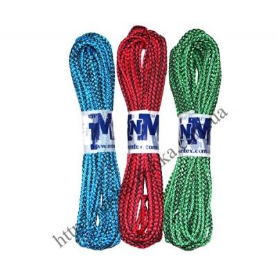 Веревка бельевая 10 м (4 мм) вязаная цветная