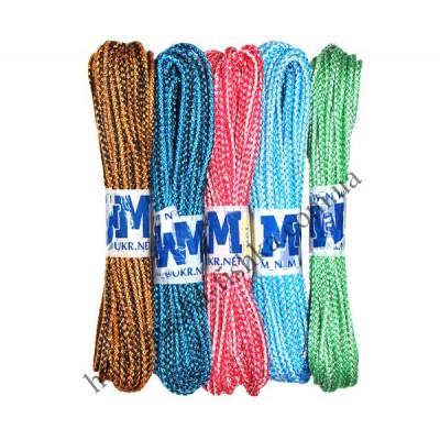 Веревка бельевая 15 м (4мм) вязаная цветная