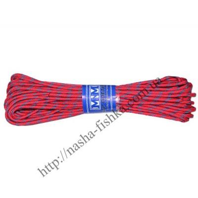 Шнур плетеный 15 м (4мм) с наполнителем цветной