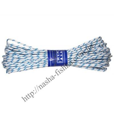 Шнур плетеный 15 м (4мм) с наполнителем белый