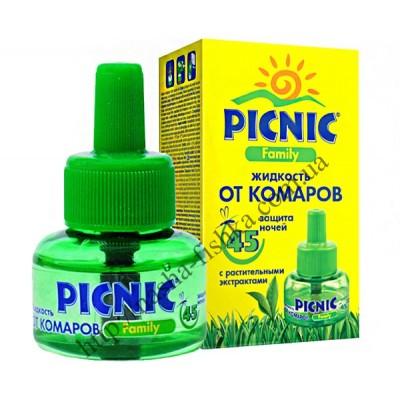 Купить оптом жидкость от комаров Picnic Family 45 ночей